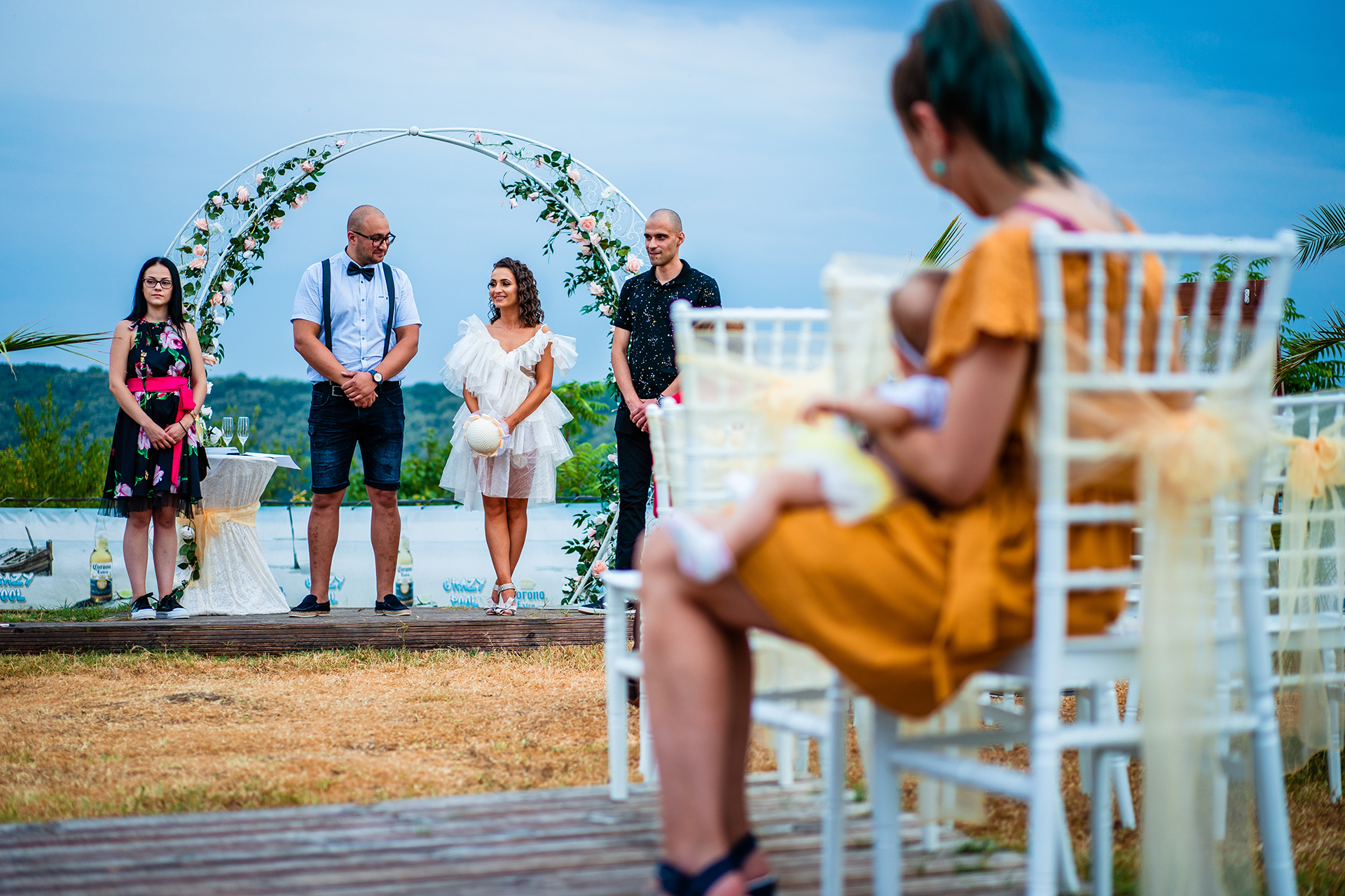 Crazy Pool Elopement Ceremony Image from Ruse, Bulgaria | Even though the wedding ceremony was quite small, the venue was absolutely gorgeous