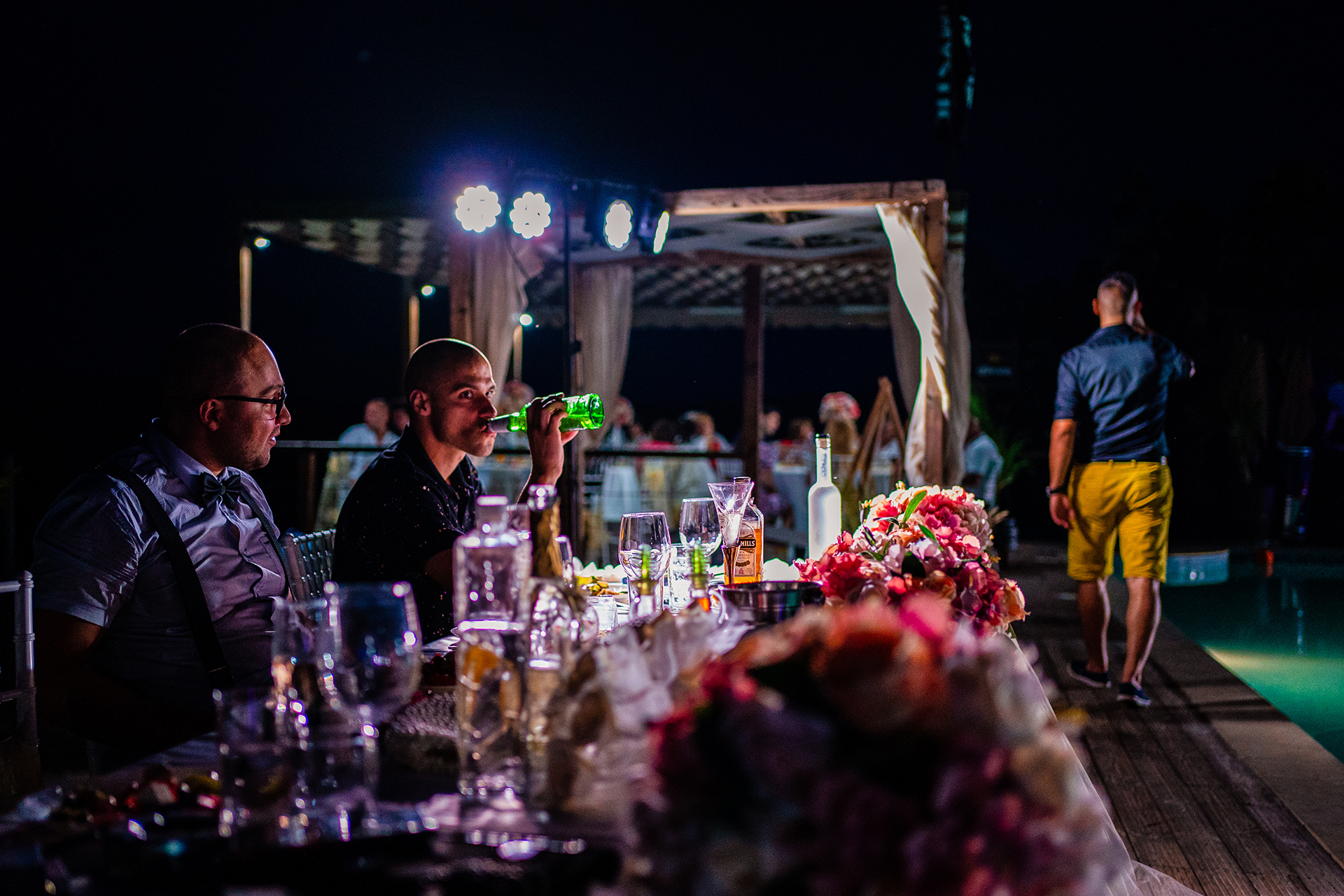 Crazy Pool, Ruse, Bulgaria Elopement Images | the bride and other guests left the dining table after eating to continue the celebration