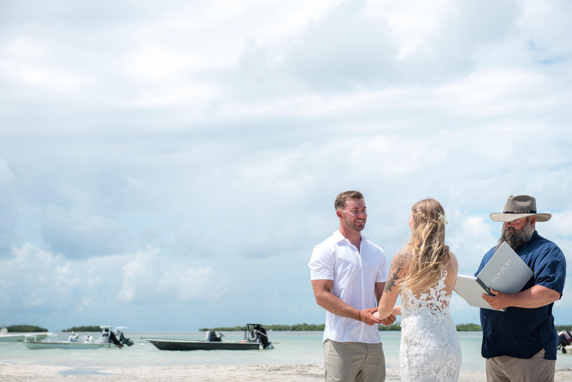 Florida Keys Elopement Image | The couple share a quiet moment during the ceremony