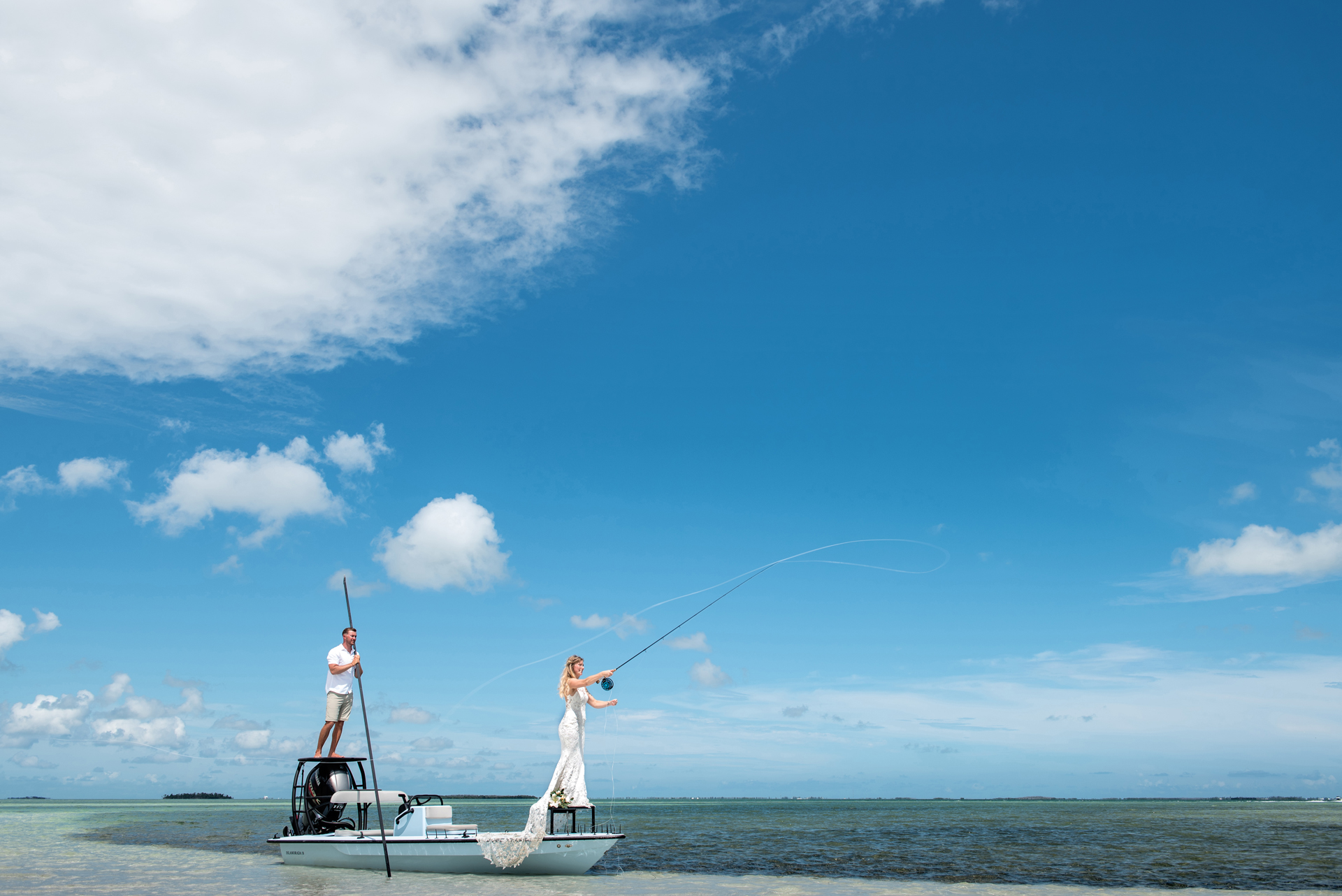 Key West Elopement Pictures from the Florida Keys | fly fishing is so important to this couple's story
