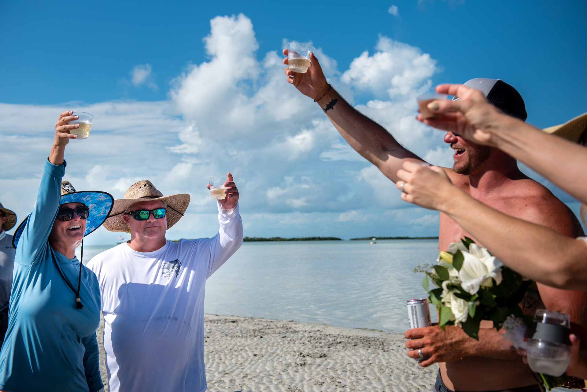 Elopement Photographer - FL Keys | The sandbar made the perfect location for this celebration