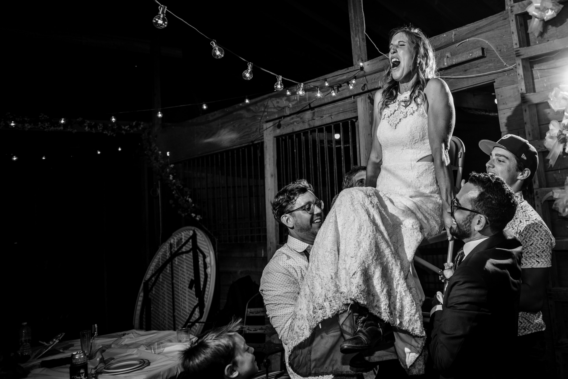 Parker CO Mountain Elopements | The bride is lifted on a chair for the hora dance