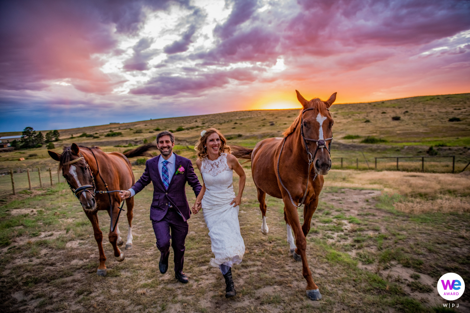 Adventure wedding picture story at a Parker, CO Horse Farm by Kathleen Ricker