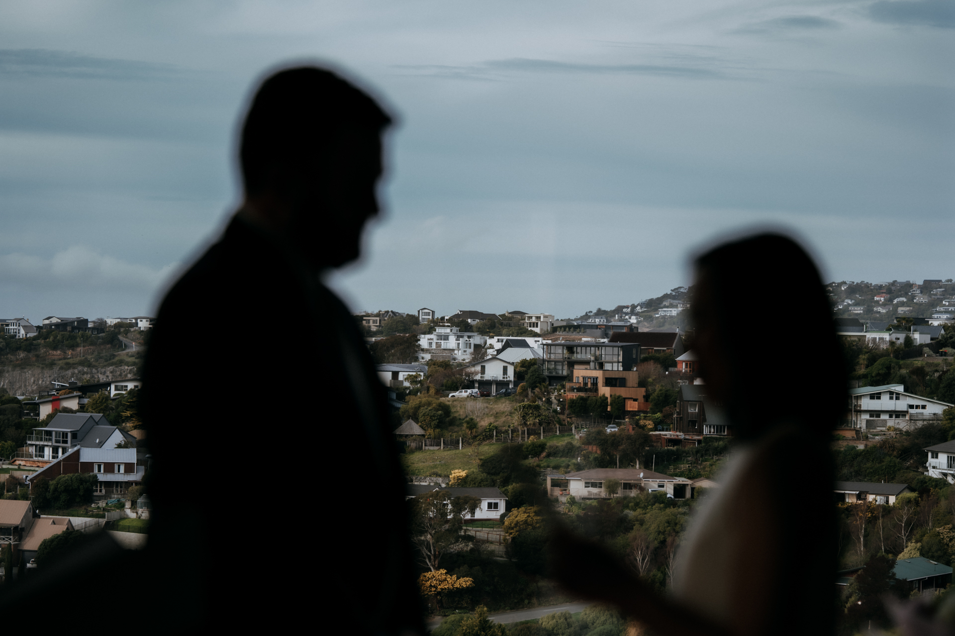 At Home Christchurch New Zealand Elopement Picture - This couple didn't need to go far to have the perfect setting for their wedding, choosing to be married in their own home in Christchurch