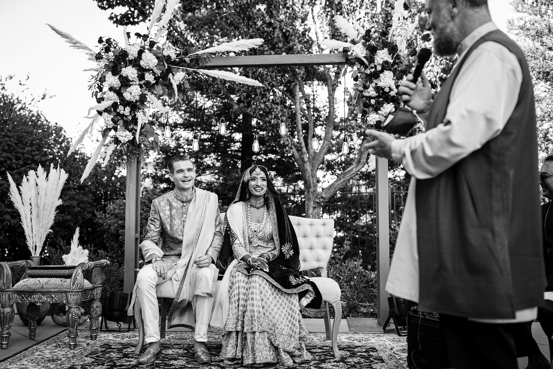 Outdoor Elopement COVID-19 Image from a CA Backyard Ceremony | This day was one full of many emotions, including humor