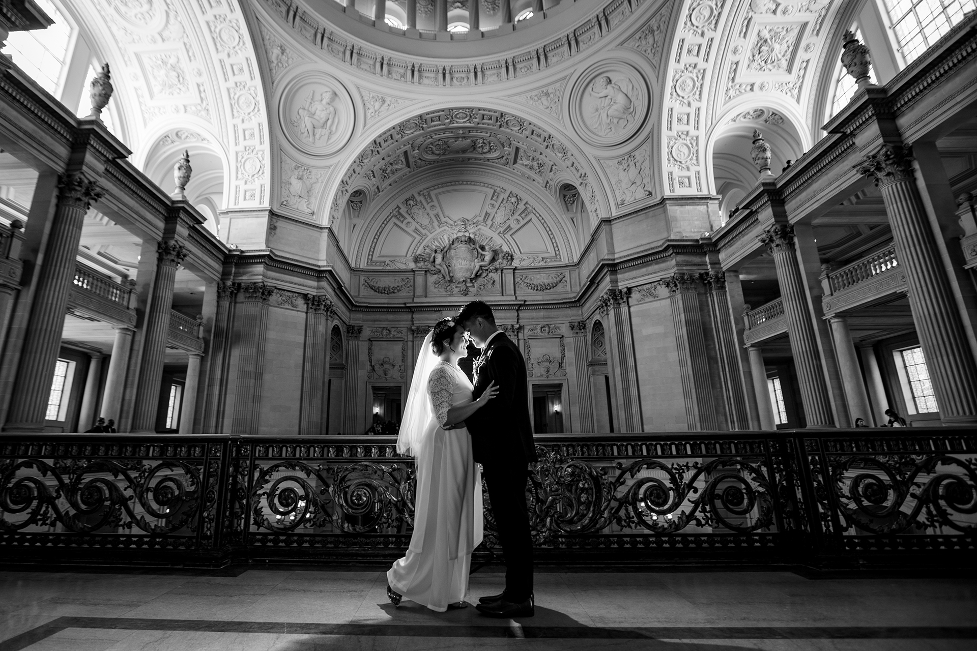 San Francisco City Hall Wedding and Elopement Photography | The City Hall made for an architecturally stunning location