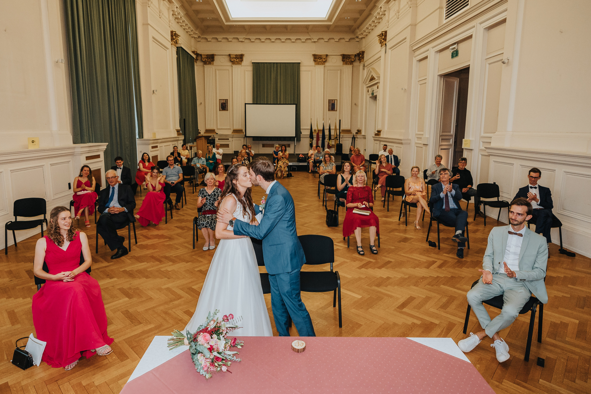 Vilvoorde, Belgium - City Hall Elopement Ceremony Image | They are now husband and wife