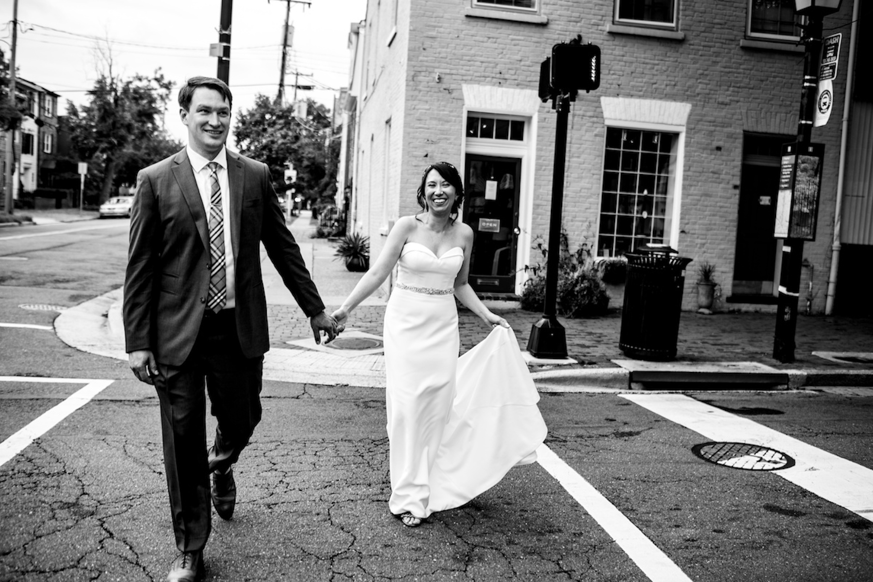 Virginia Elopement Photography | The couple decides to spend a few minutes away from their guests to go for a walk