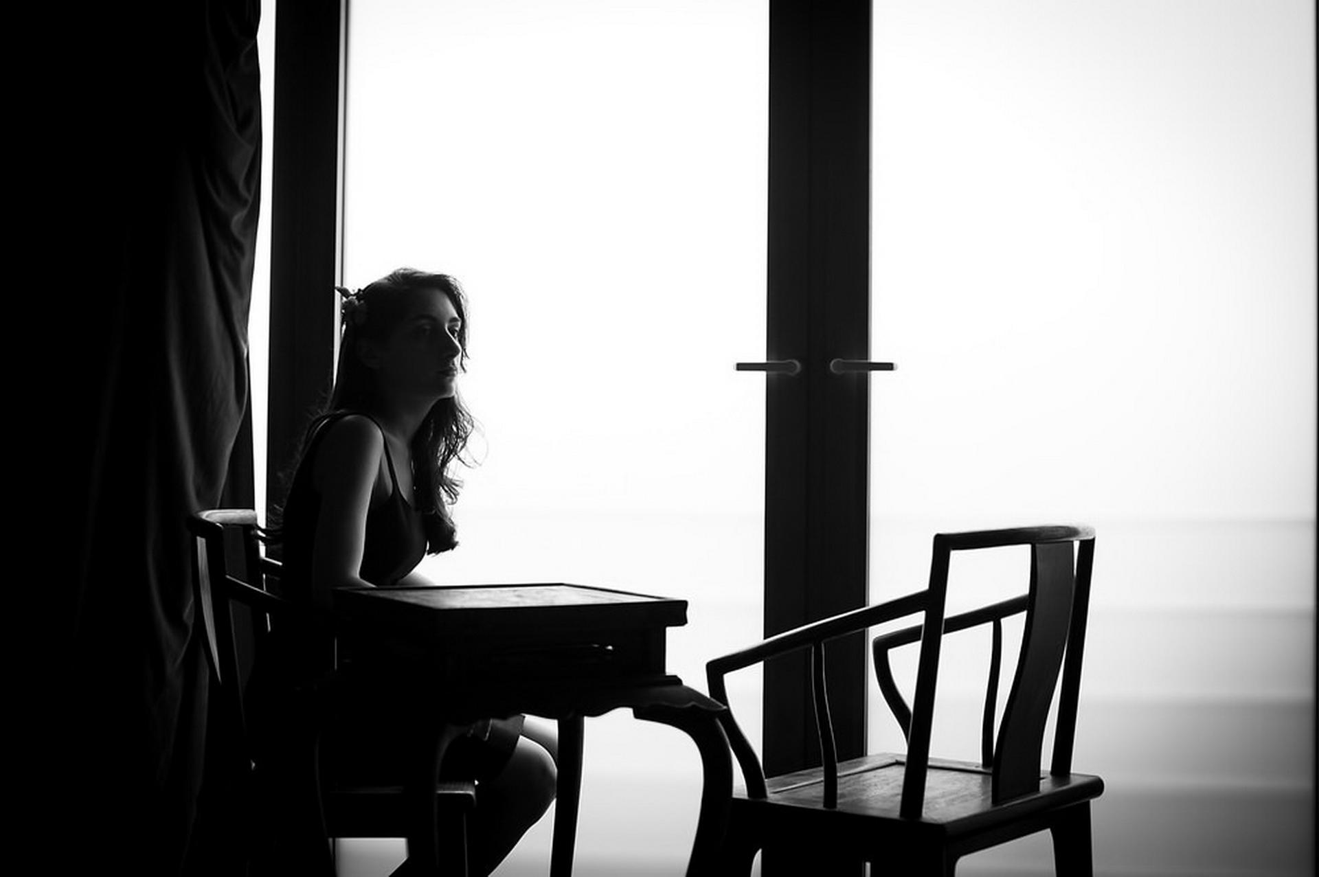 Green T. House, Peking Elopement Day Fotografie   Die Braut war allein in ihrer Umkleidekabine
