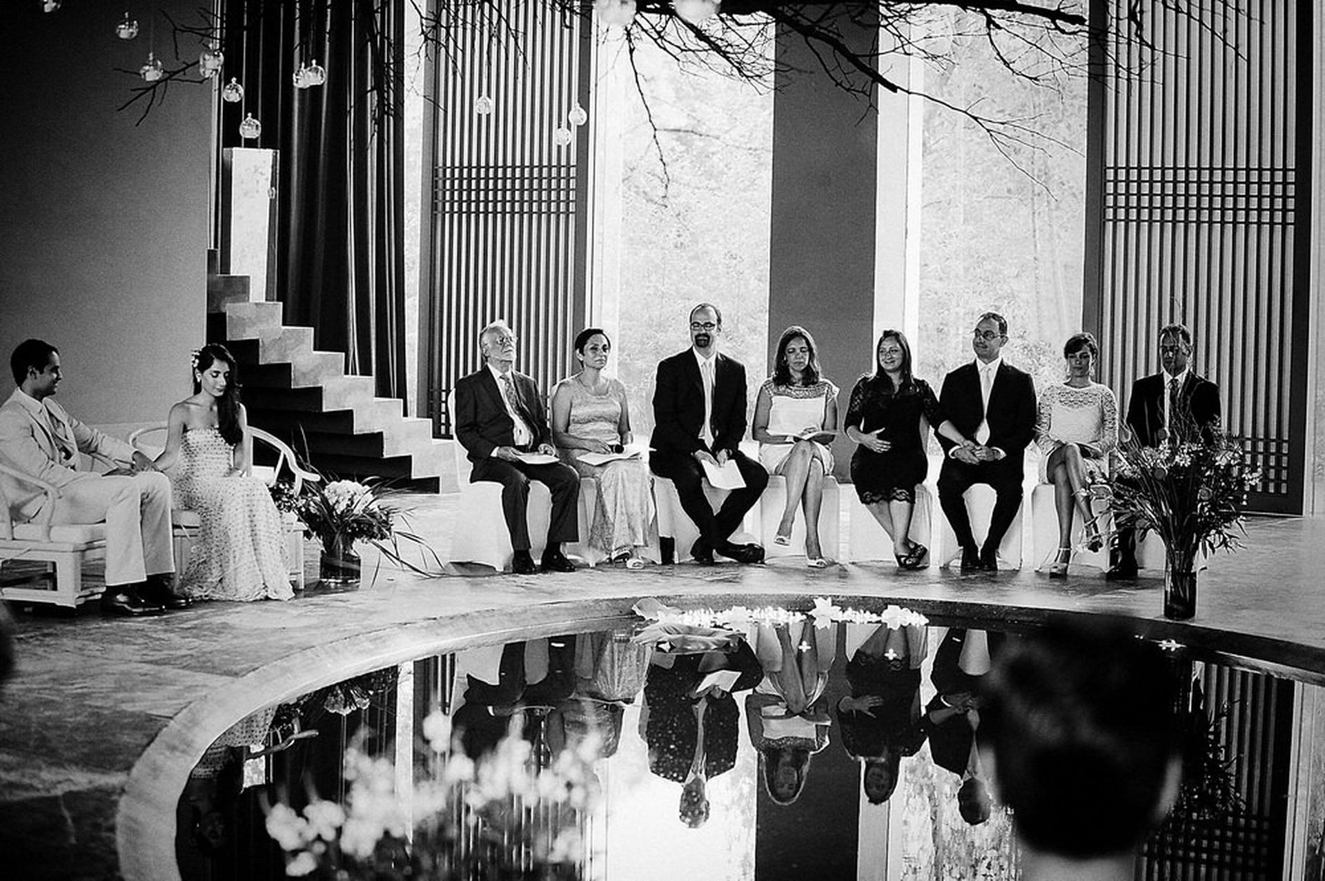 Green-T-House huwelijksceremonie fotograaf | Het belangrijkste proces van de ceremonie is de boodschap, het gebed en de recitatie van de gast, begeleid door elegante muziek