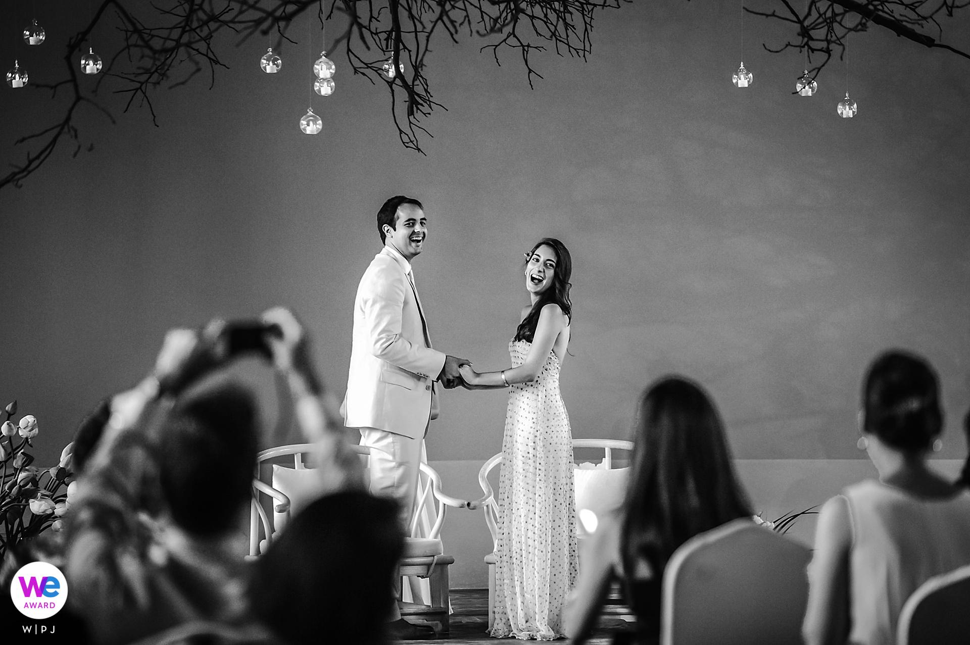 Green T. House, Beijing, China Afbeelding huwelijksceremonie | de bruid en bruidegom wilden een bruiloft die tot geen enkel cultureel gen behoort