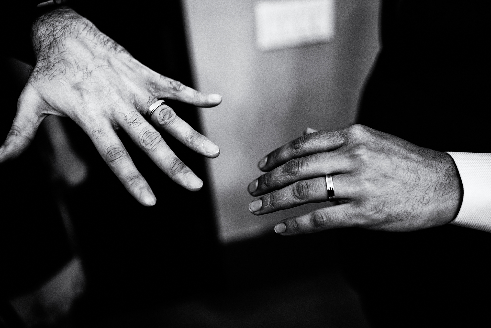NYC City Hall Wedding/Elopement Photographer for New York City | The groom shows off his wedding ring