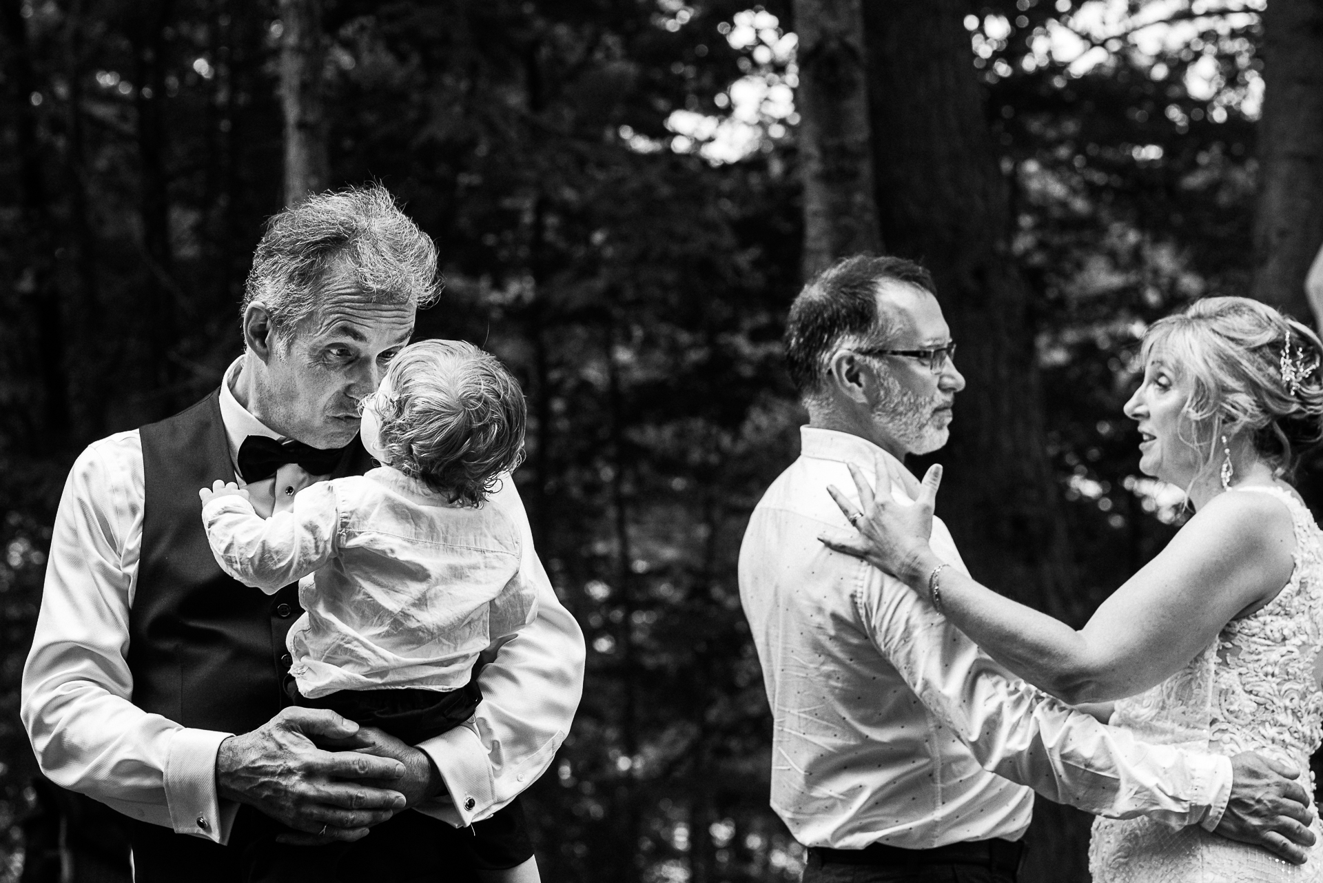 Wedding & Elopement Event Photographers in Canada, ON | the groom dances with his grandson