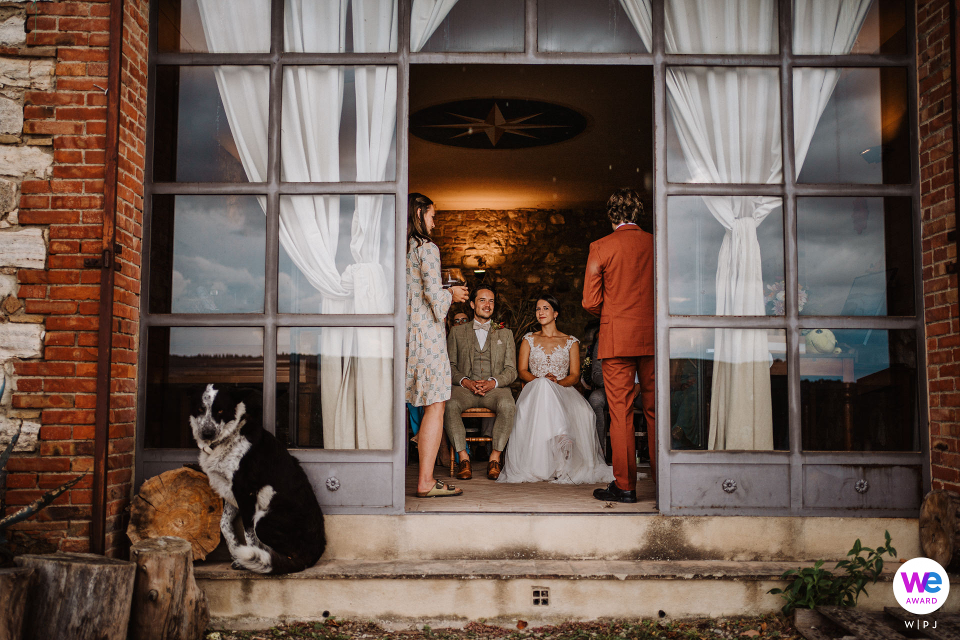 Agriturismo Il Rigo Elopement Venue Images - Italy   outside of the room where the second part of the ceremony took place