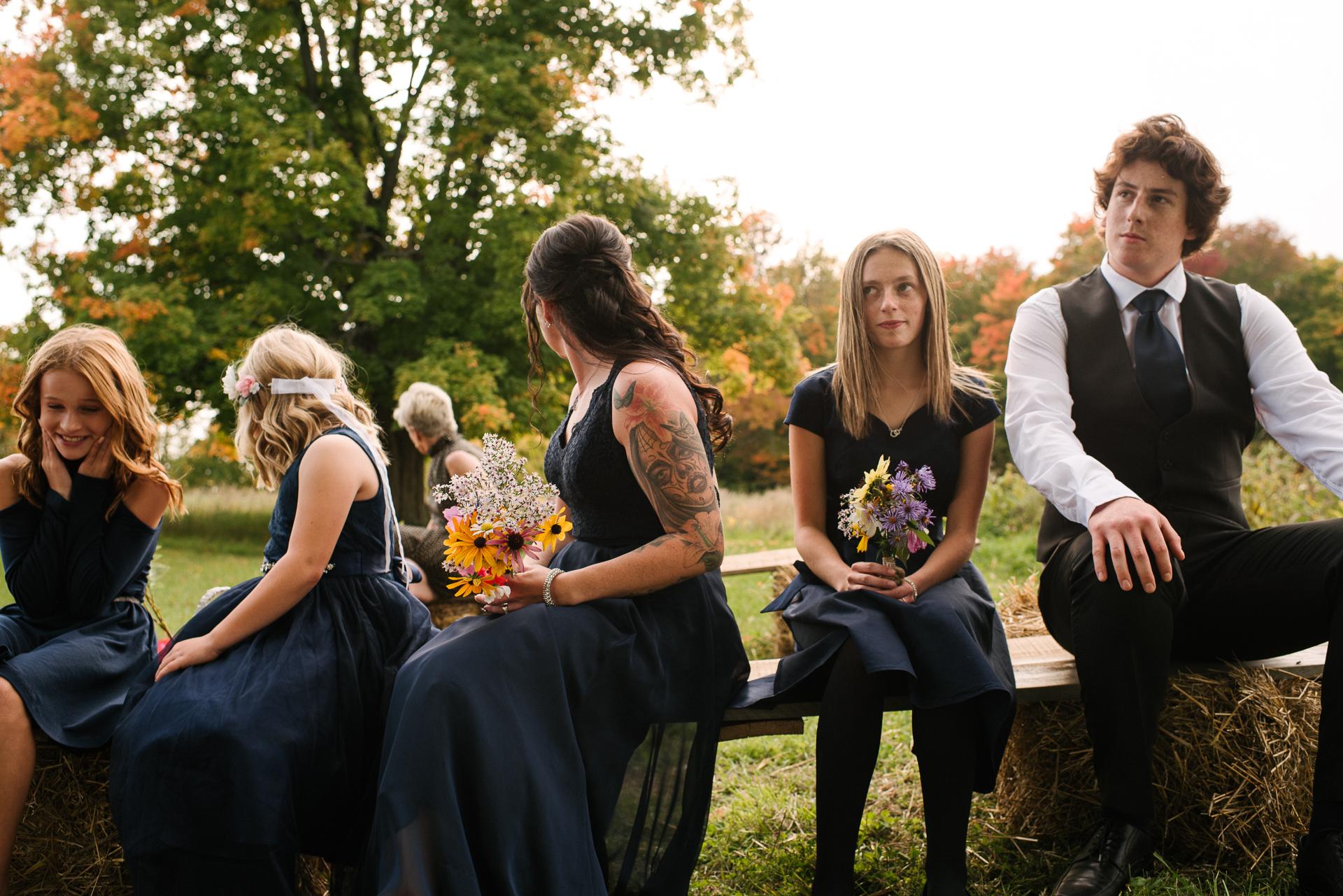 Tamworth, Ontario, Kanada Hochzeitsbild | Die Gäste warten gespannt