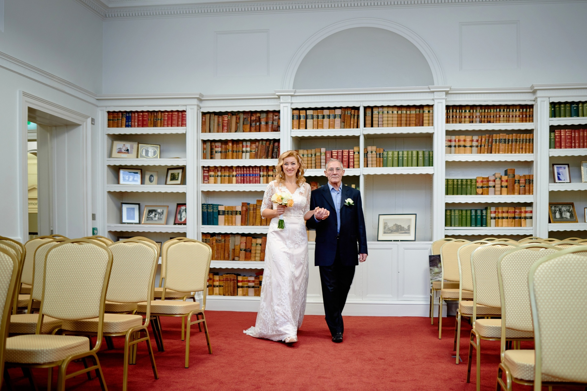 Ceremony Photo - Salisbury Registry Office | Father of the bride was so proud to lead his beautiful daughter on that special day