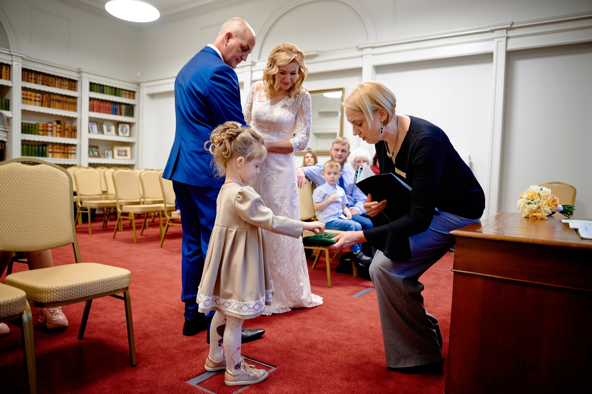 Wiltshire / Salisbury Wedding Photographers | The young girl was offered the role of flower girl and ring bearer