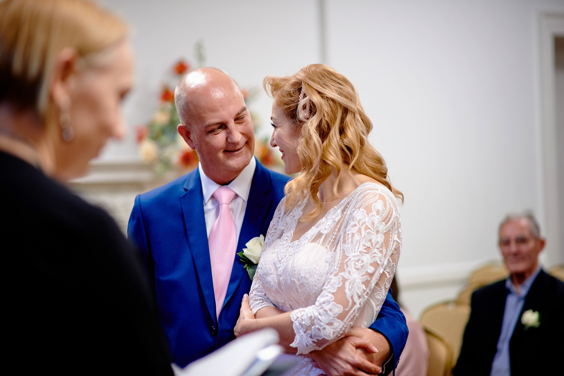 UK Civil Ceremony Elopement Photos | The way the groom is looking at his bride is priceless