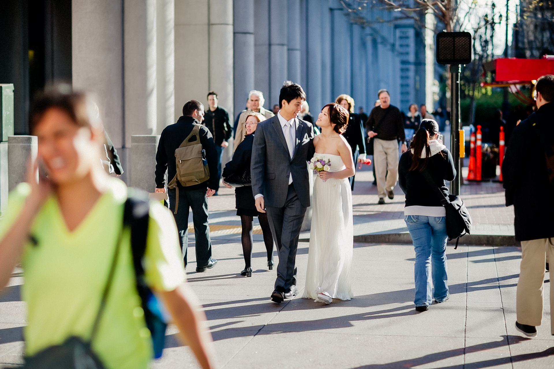 Elopement Image at the San Francisco City Hall | A romantic stroll in the city