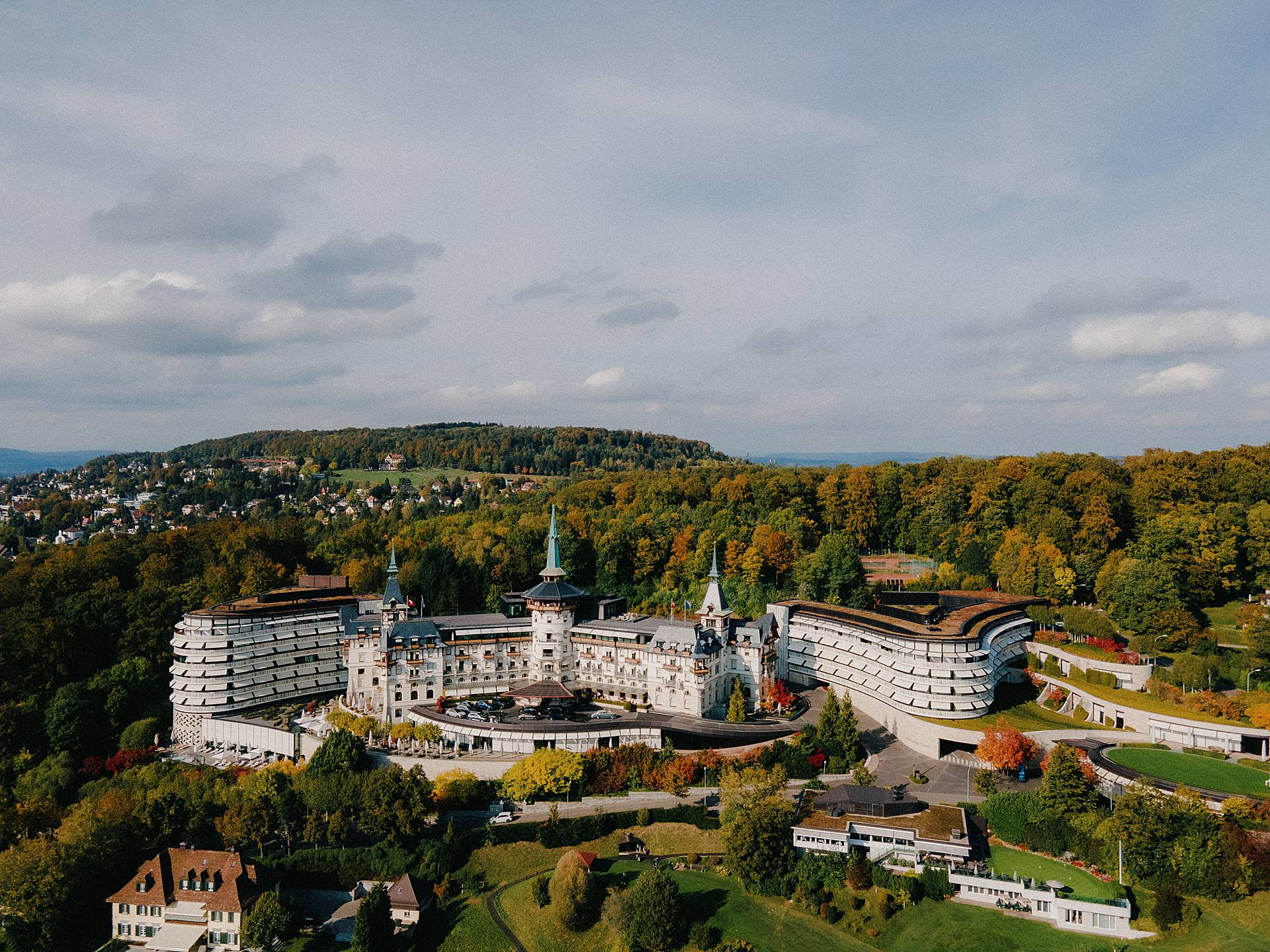 Dolder Grand, Zurich Wedding Photos | The beautiful location where the ceremony took place
