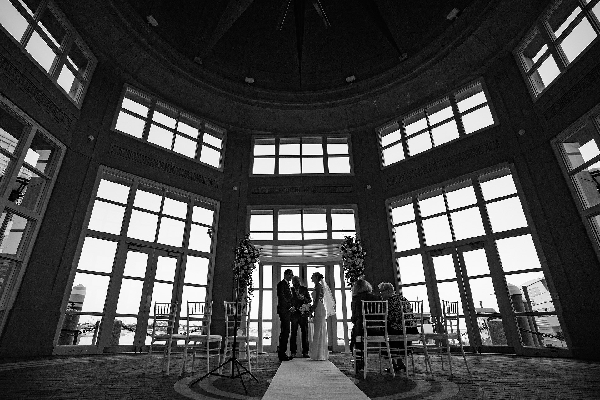 Boston Harbor Hotel Wedding Photo Of The Bride And Groom Saying Their Vows Wedding Photojournalist Association