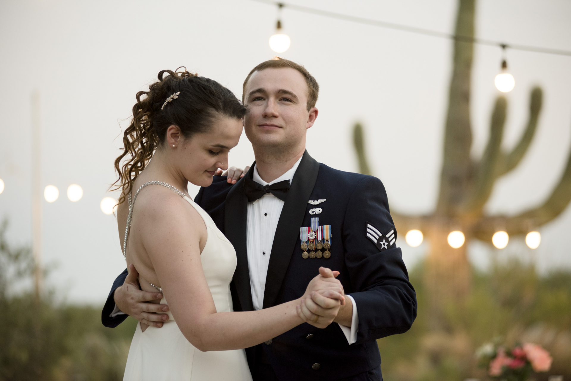 AZ Rental Home Wedding Reception Picture | The couple shares their first dance together
