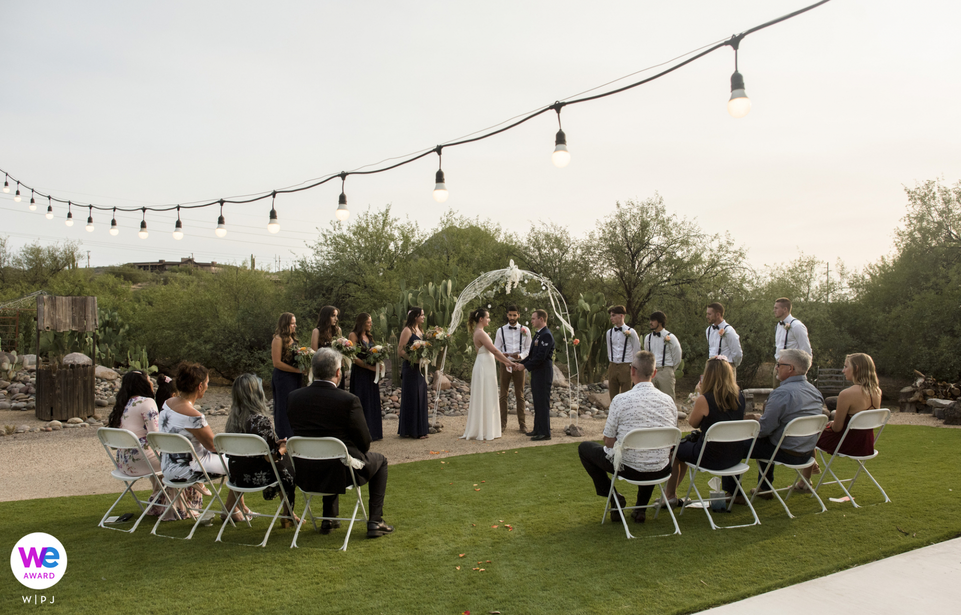 Wedding Photography - New River, AZ | The bride and groom commit themselves to one another