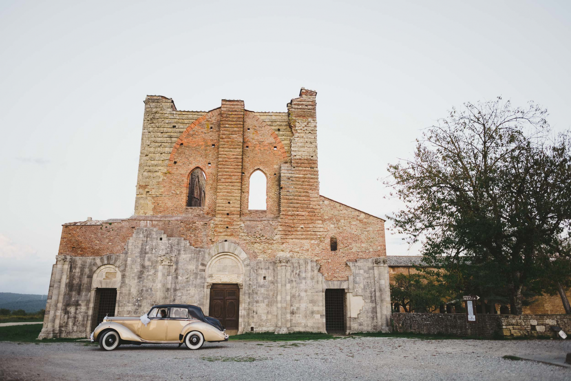 San Galgano Abbey Elopement Photographer - Tuscany   The intriguing architecture of the Abbey appears to be appropriate and picturesque
