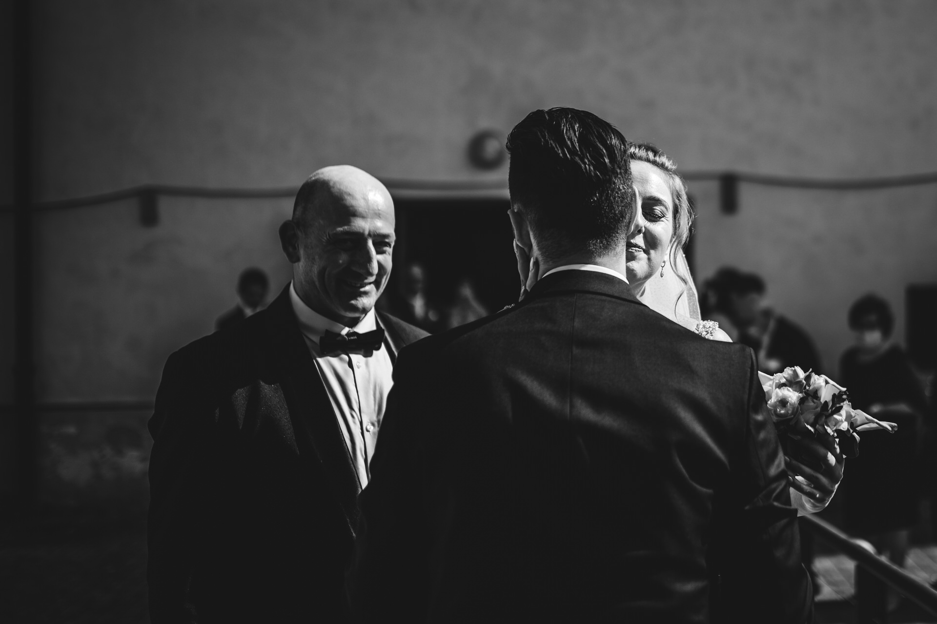 Florence, Italy Small Wedding Picture | The bride and groom finally greet each other for the first time