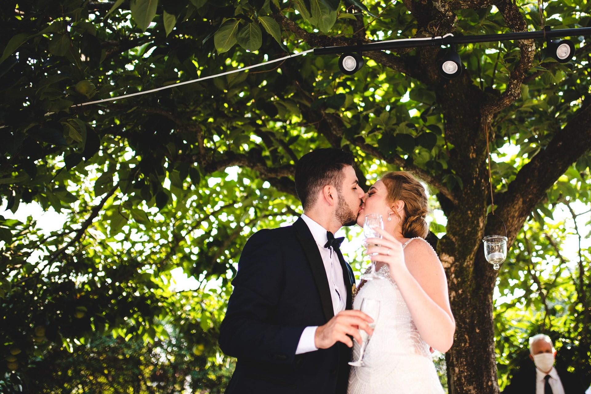 La Limonaia di Villa Senni, Florence IT Wedding Portrait | Taking the celebration outside on a lovely, sunny day