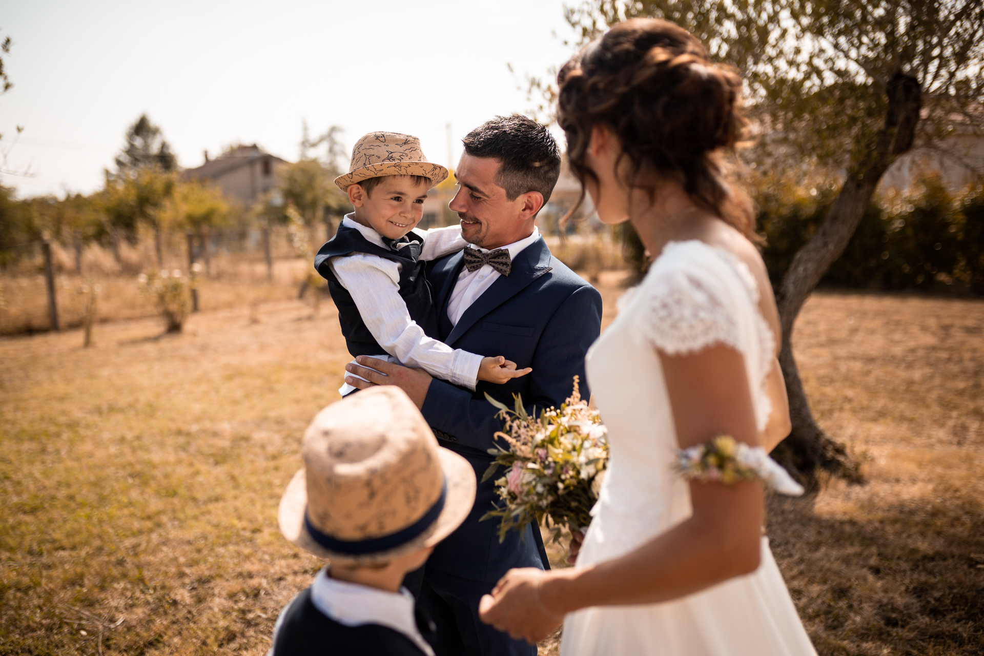 Tarn, France Wedding Photographers | It was their children's time to see their parents