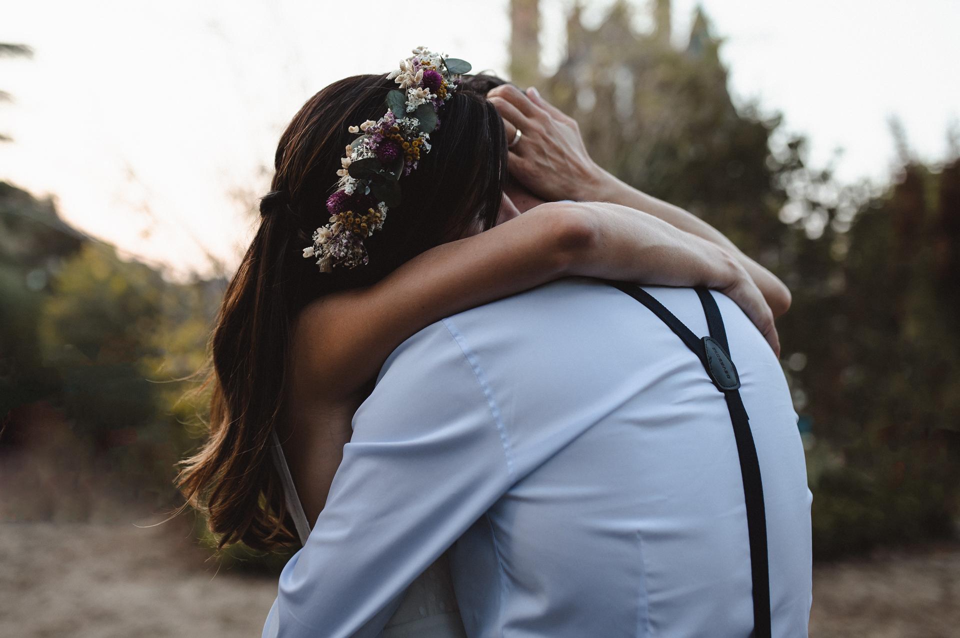 法国婚礼摄影师| 新娘和新郎充满爱与情感