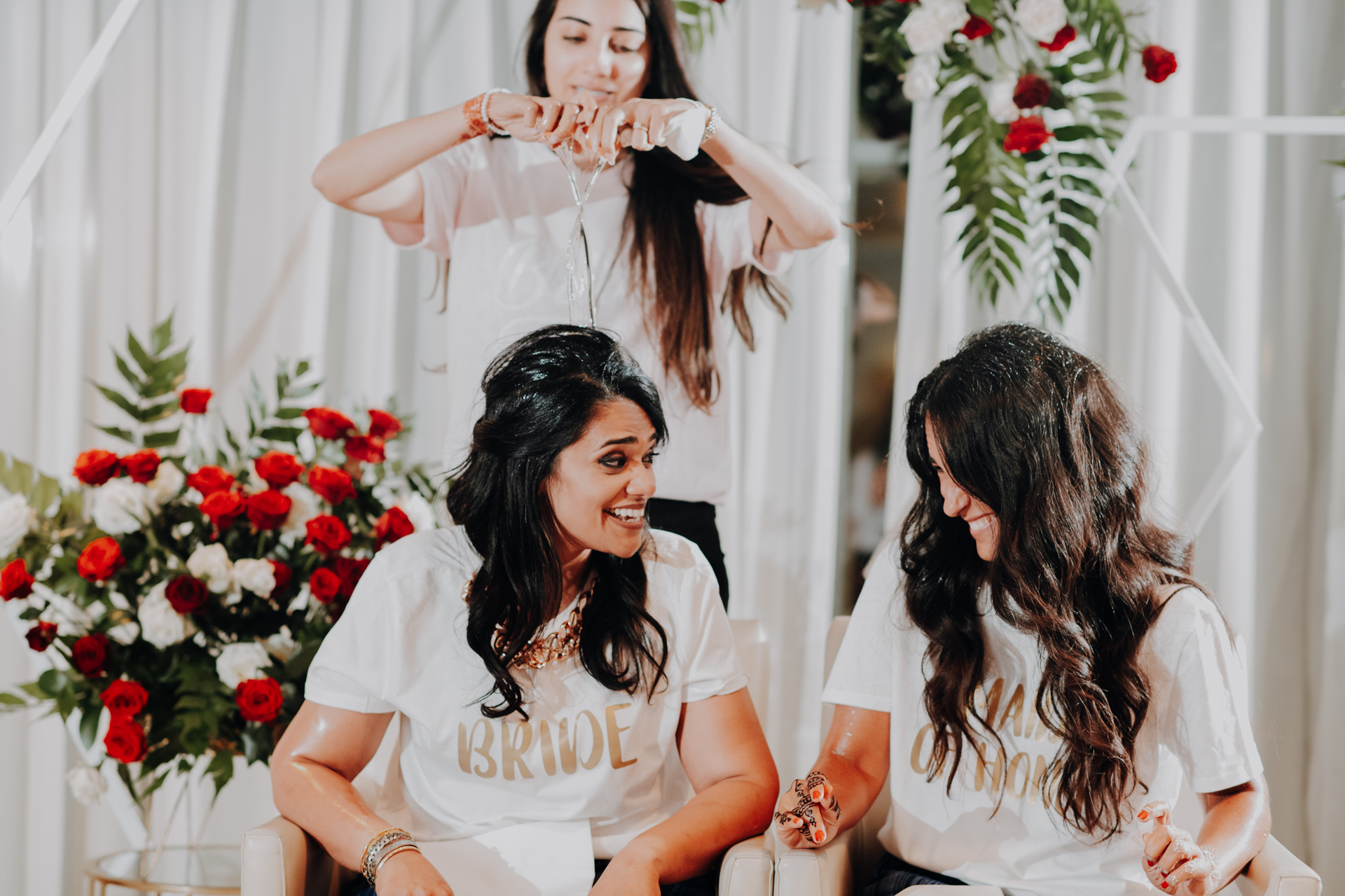 Portugal Wedding Photography for Lisbon | The bride and her maid of honor giggle