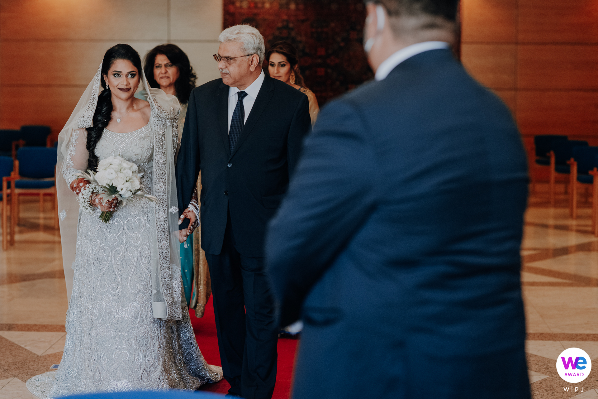 Top Portugal Wedding Photography | her father holds her hand and looks on with pride