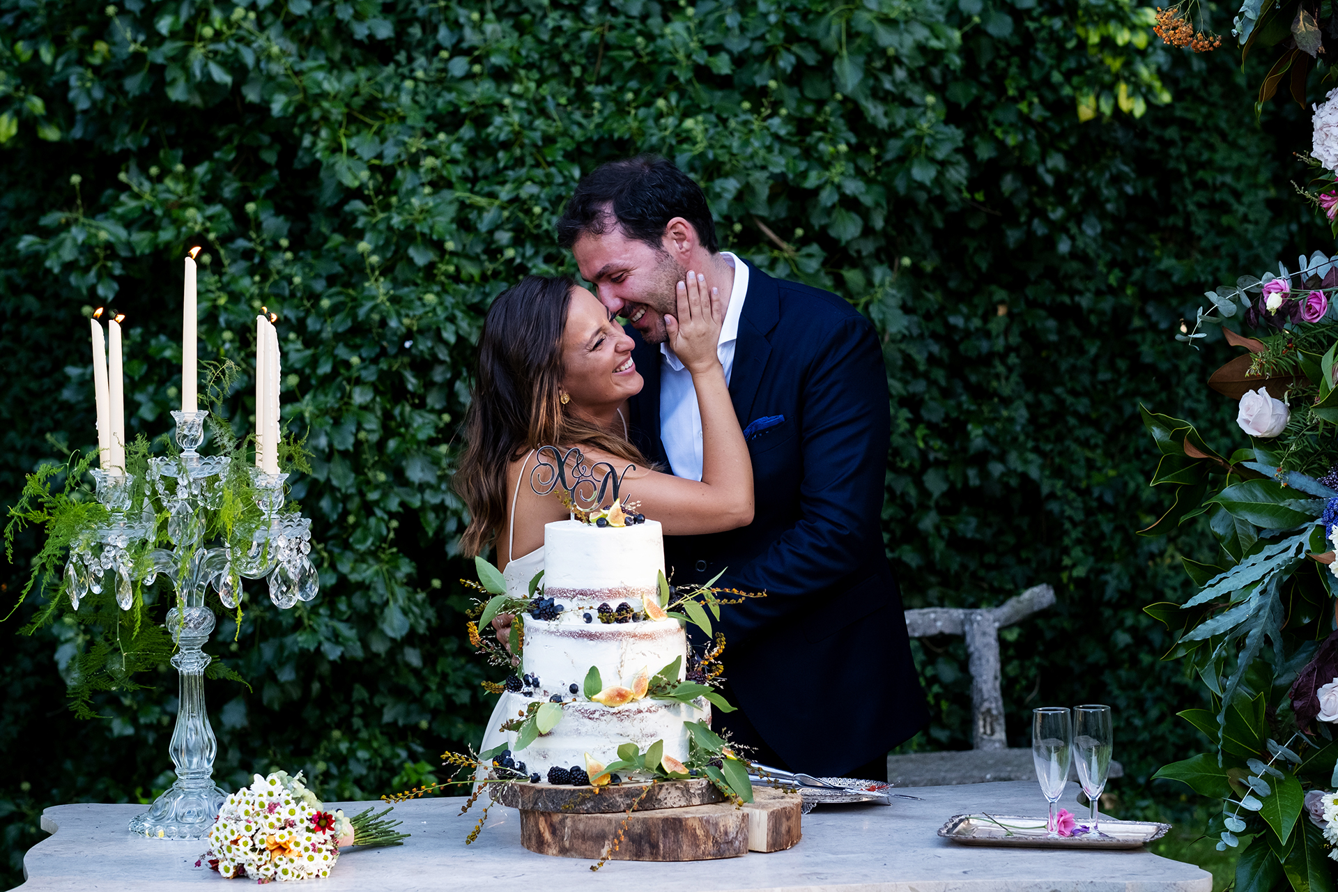 Portugal Backyard Wedding Pictures | The organic beauty of the yard highlights the natural love