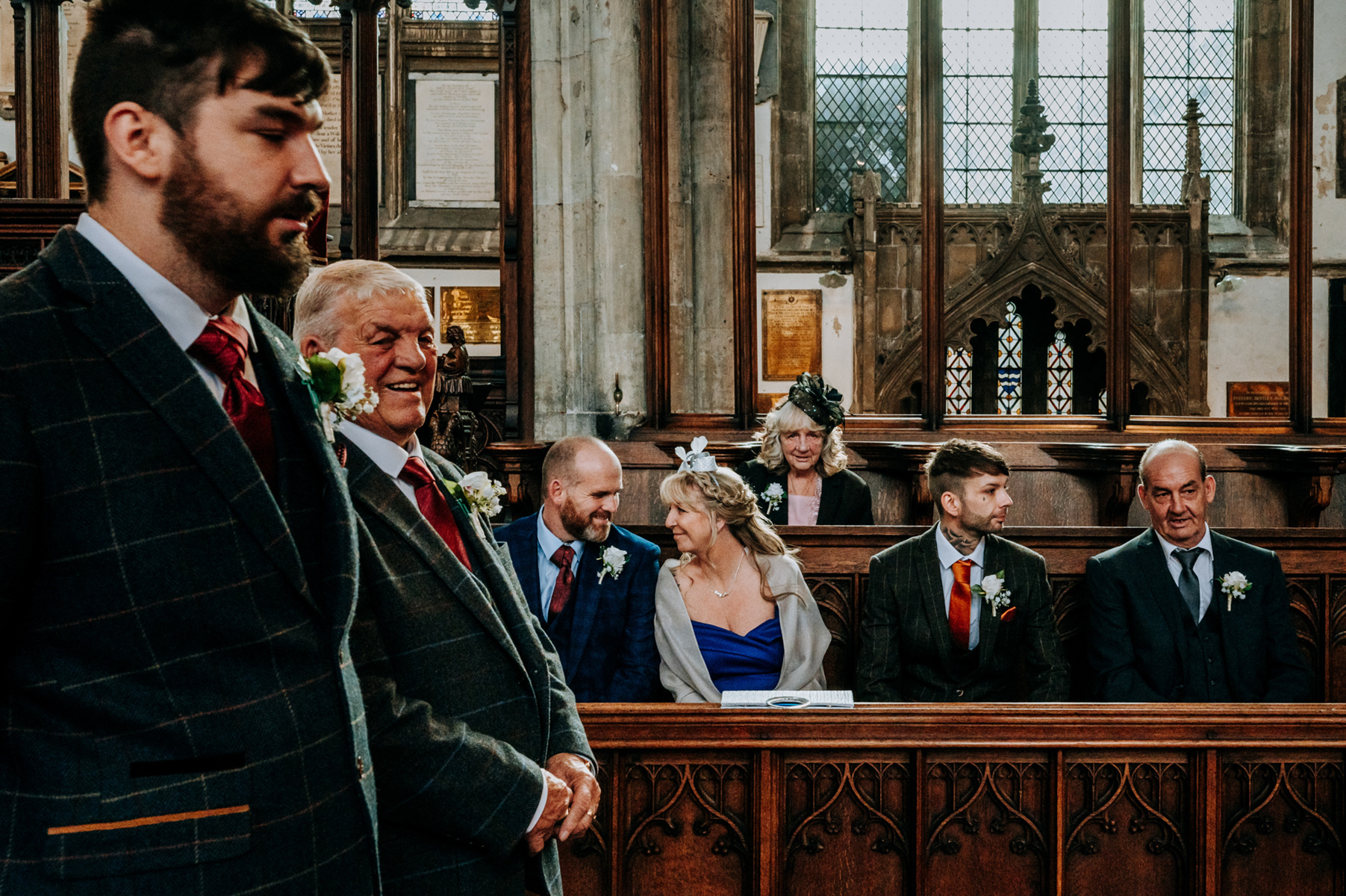 Hull Minster Church Wedding Pic - East Yorkshire, UK | grandad and family wait