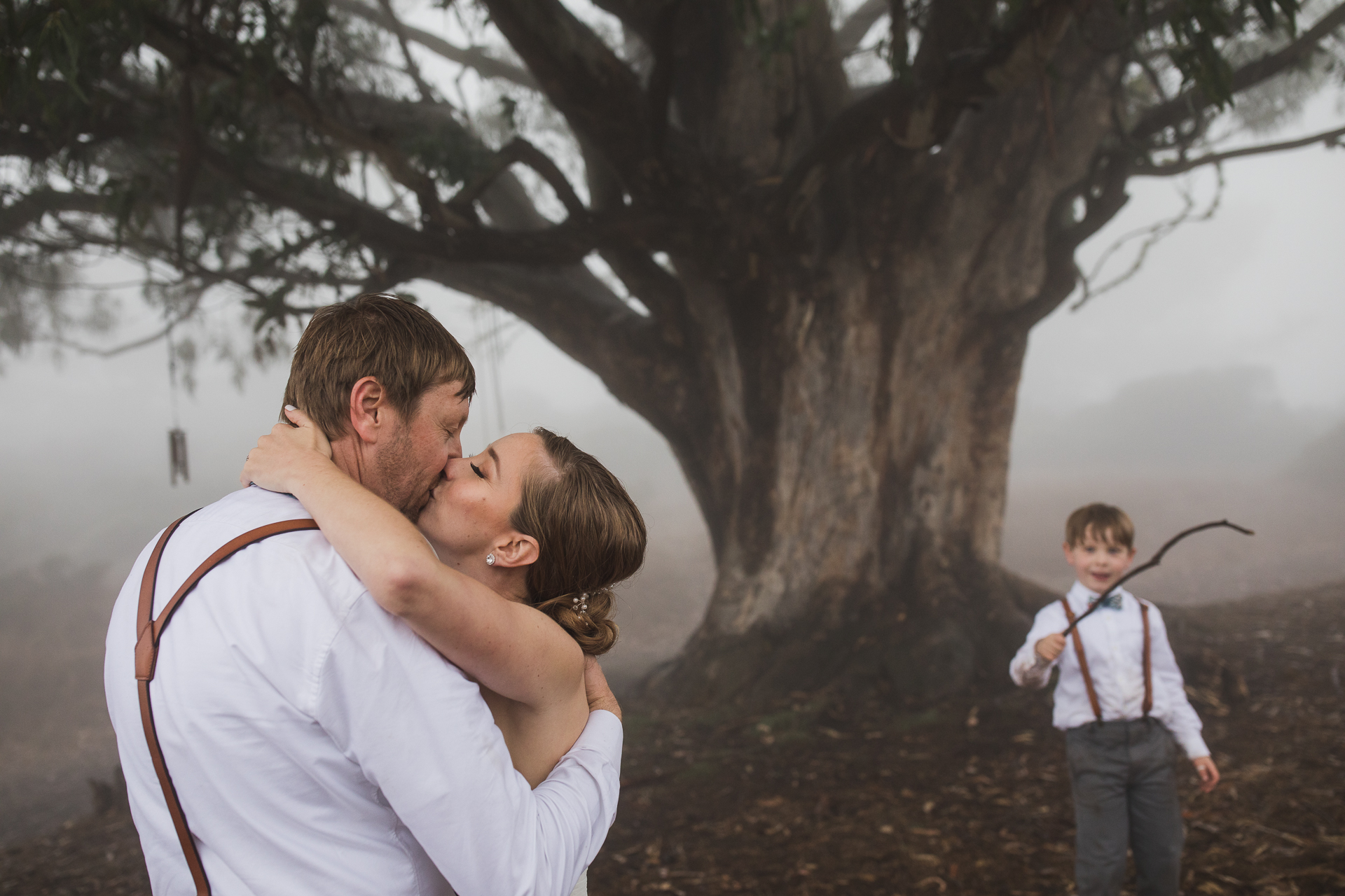 Marin County, California Outdoor Wedding Photos | first dance underneath the grandmother of Coastal Live Oak Trees