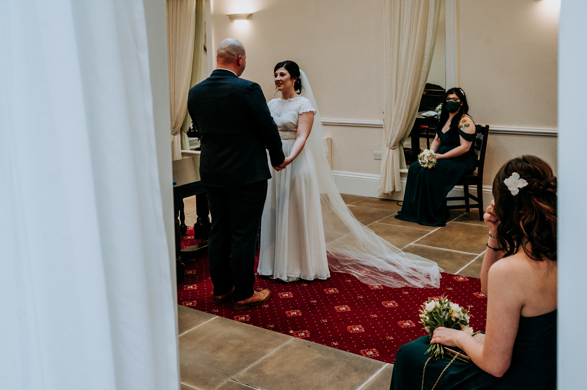 York Registry Office Wedding Ceremony Picture | The wedding ceremony begins