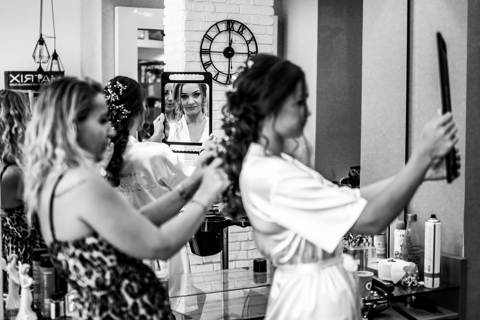 Ruse, Bulgaria Wedding Bridal Image | As she prepares for her wedding ceremony, the bride reflects