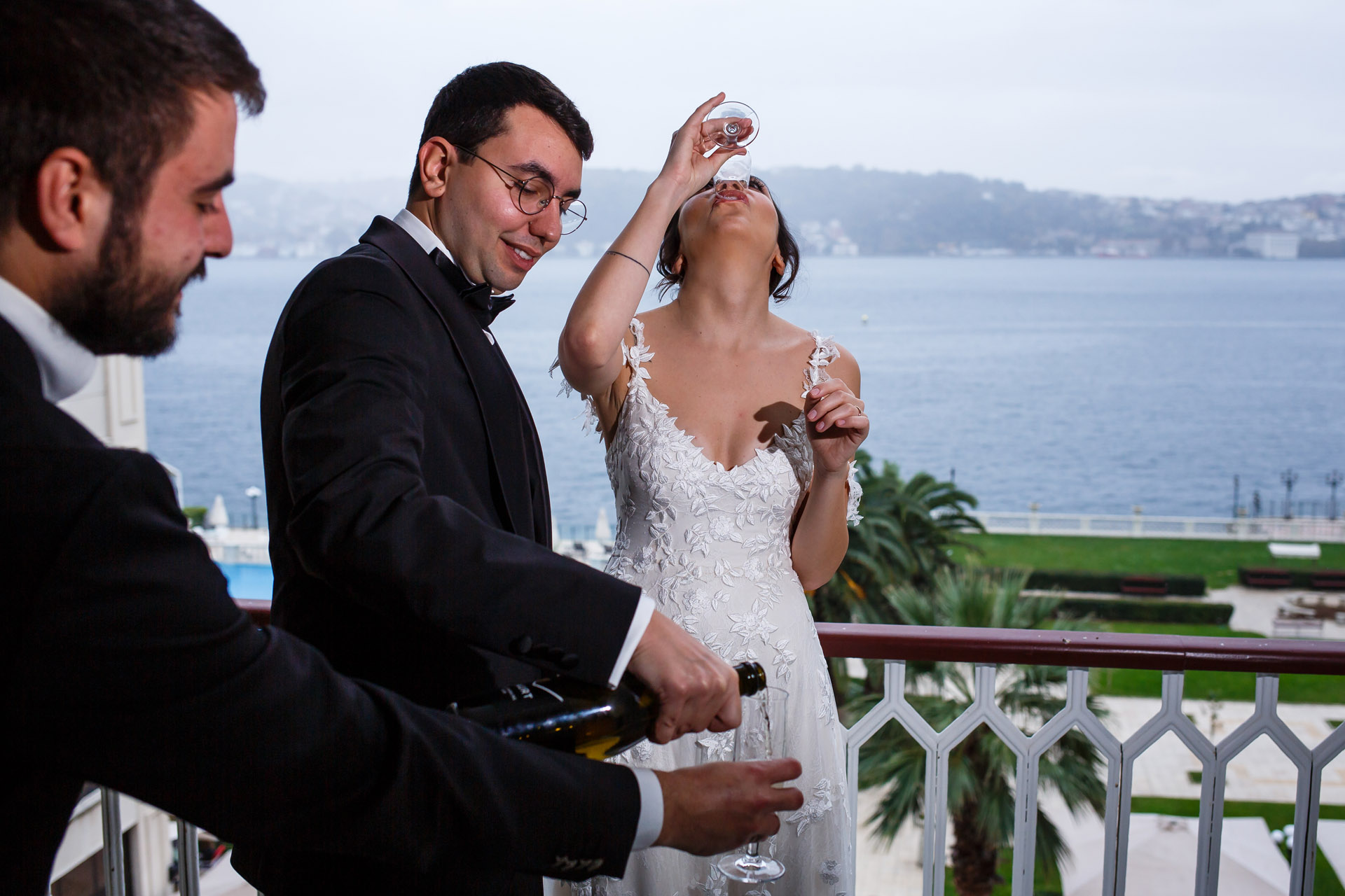 Wedding Pic at Ciragan Kempinski Palace Hotel | there was very little time left for the wedding ceremony