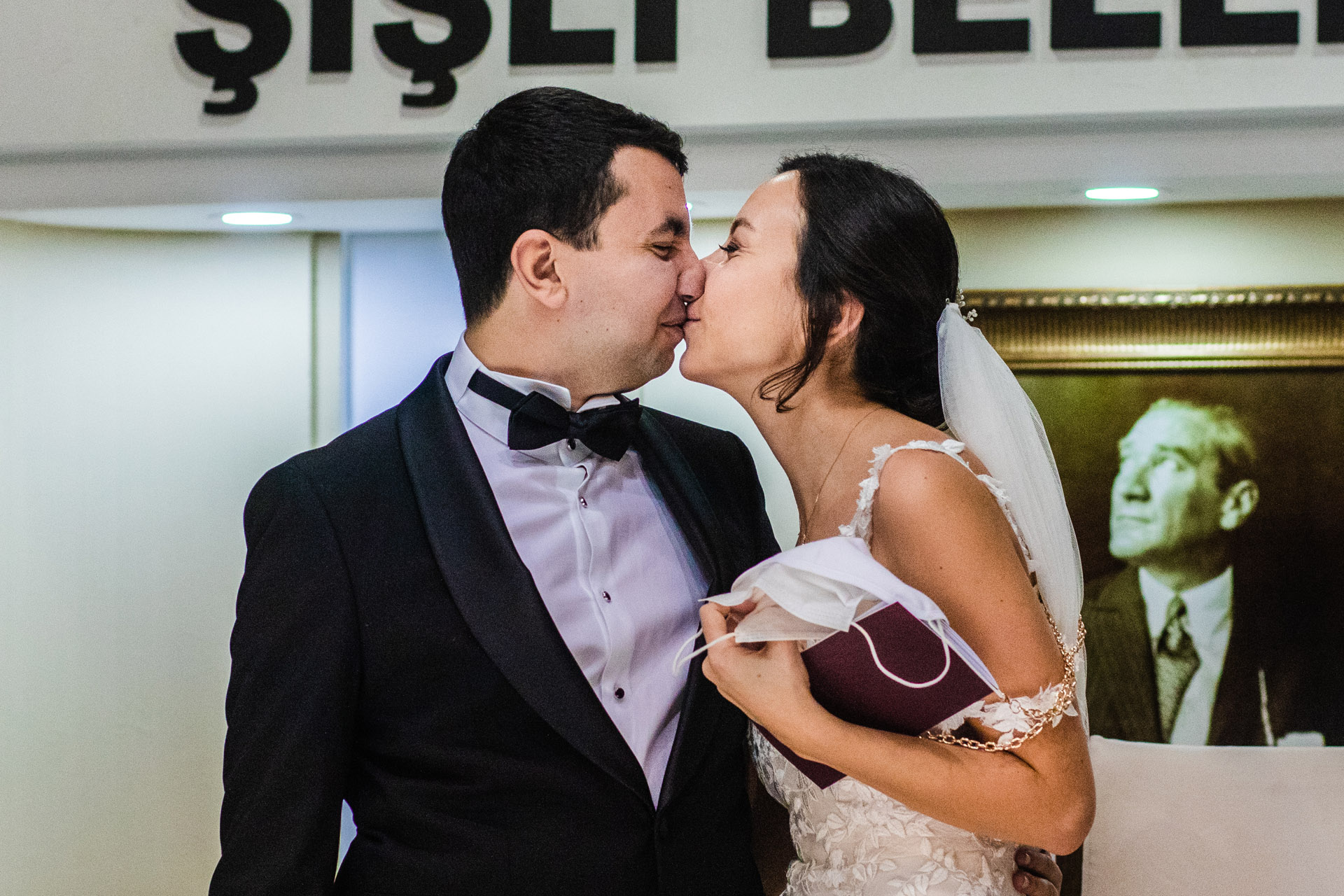 """Sisli Evlendime Dairesi - official COVID wedding hall photos 