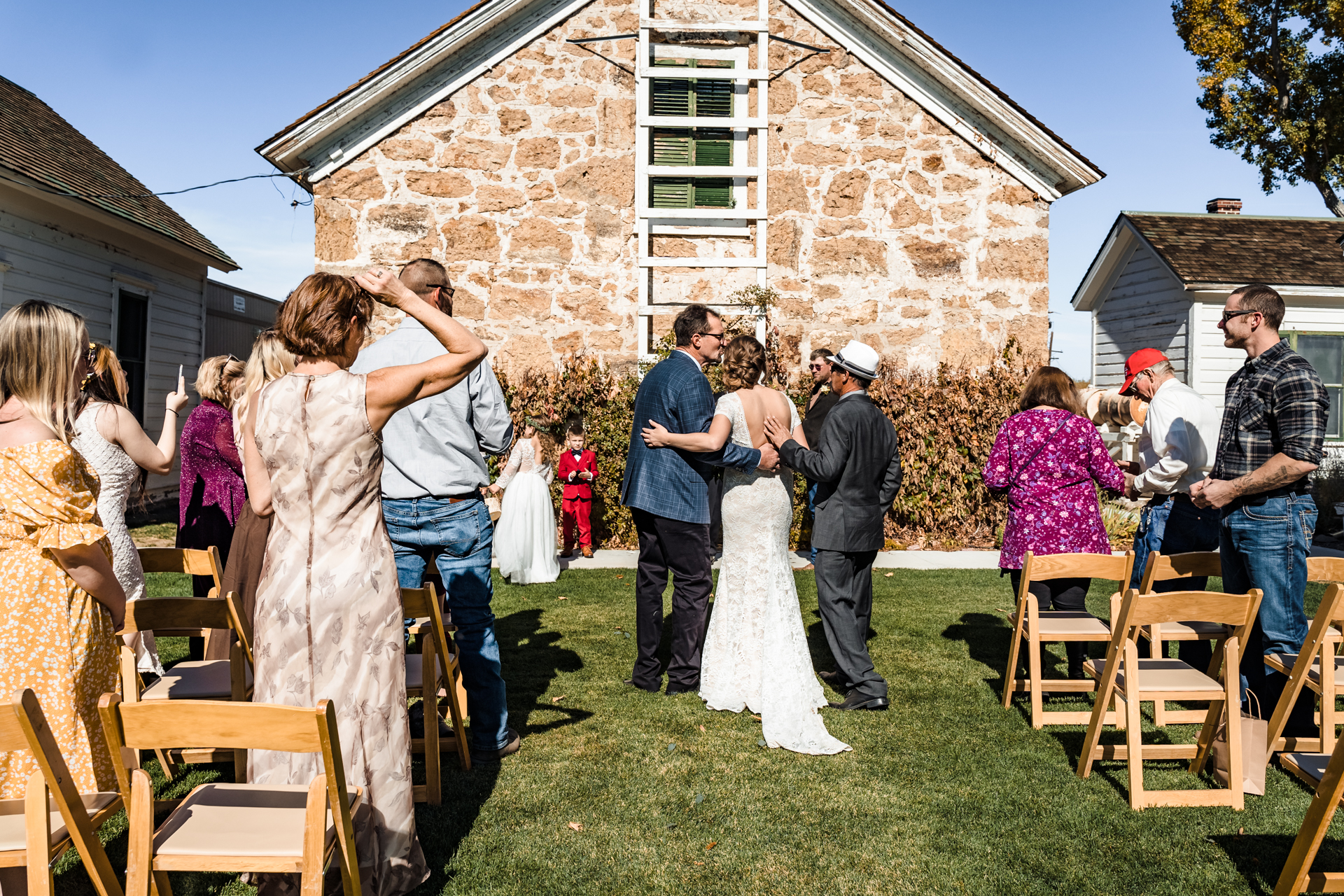 Dangberg Home Ranch Historic Park in Minden, Nevada Wedding Photo | They had a live violinist