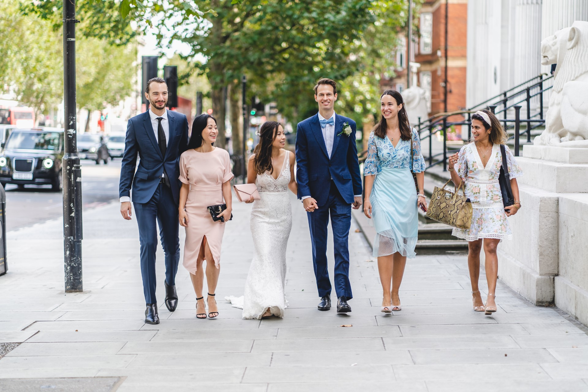 Westminster Council House Wedding Pics | The bride, groom, and wedding party all head off
