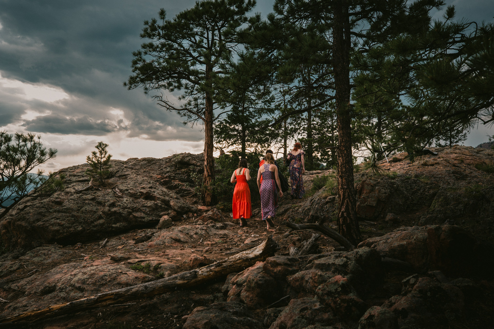 Colorado Wedding Photo at Staunton State Park | After drinks and hors d'oeuvres