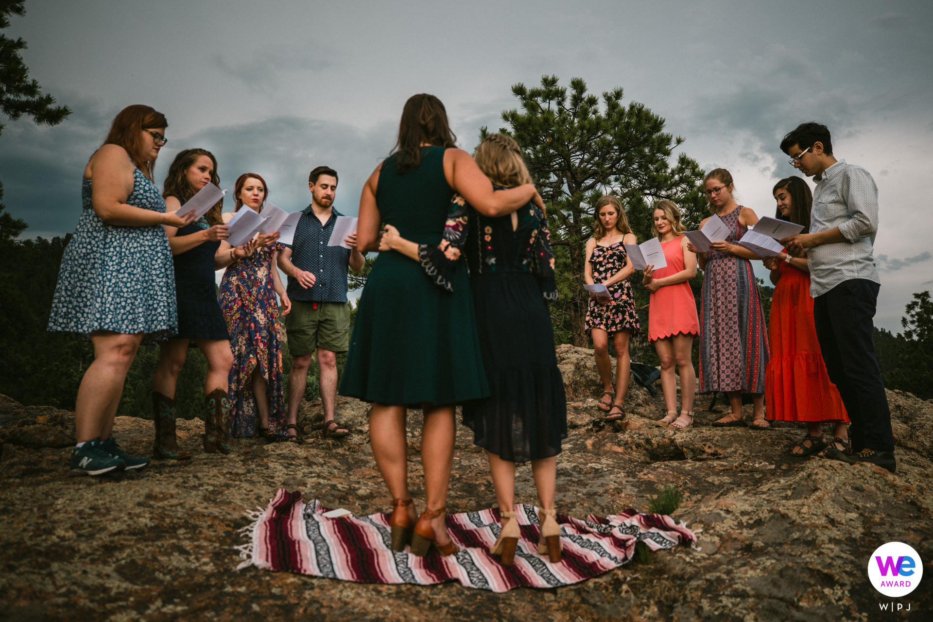Campsite Wedding Photo at Staunton State Park, CO | The couple's siblings and closest friends were in attendance