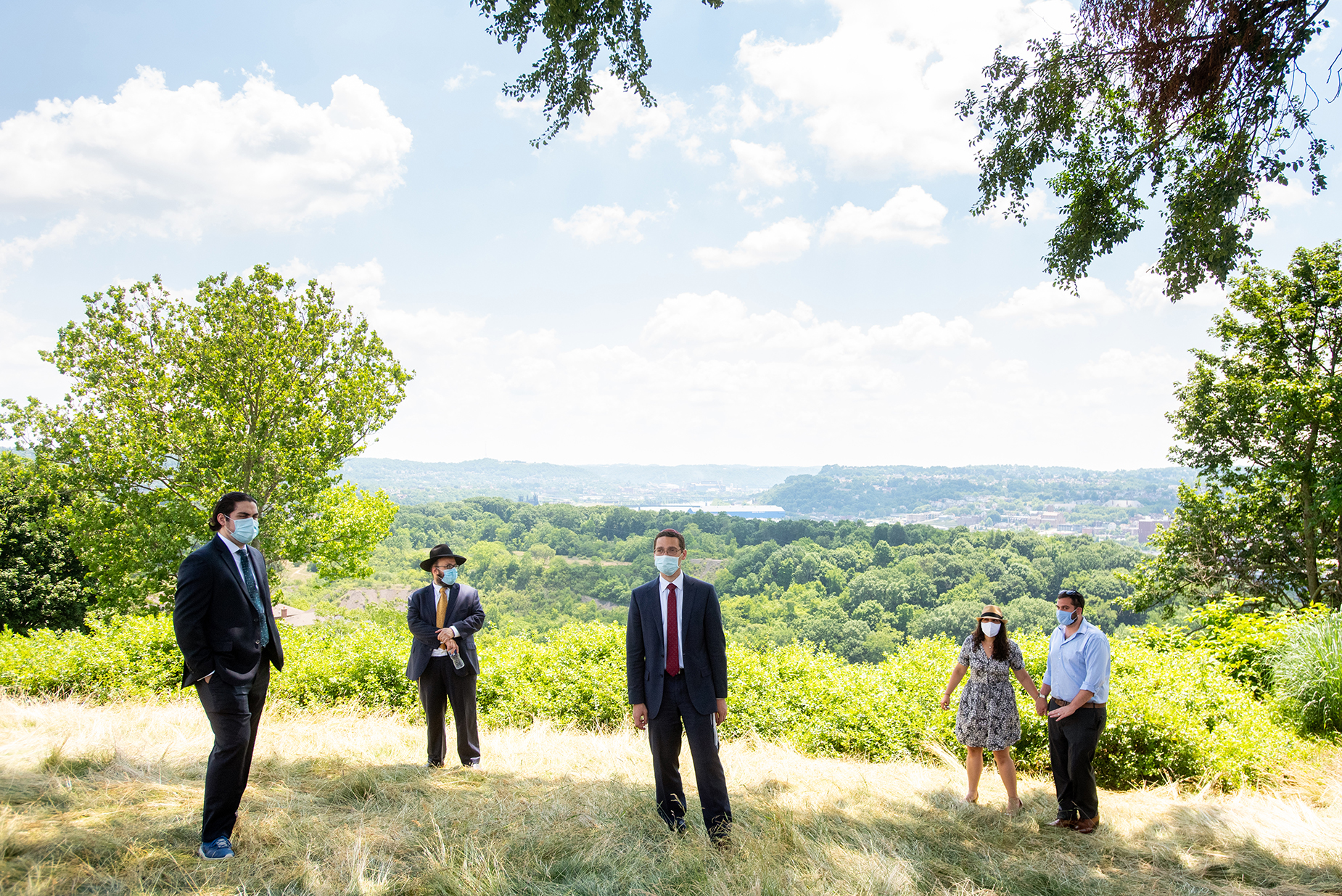 Pittsburgh Wedding Photographer - PA | Guests stand at least 6 feet apart during the ceremony