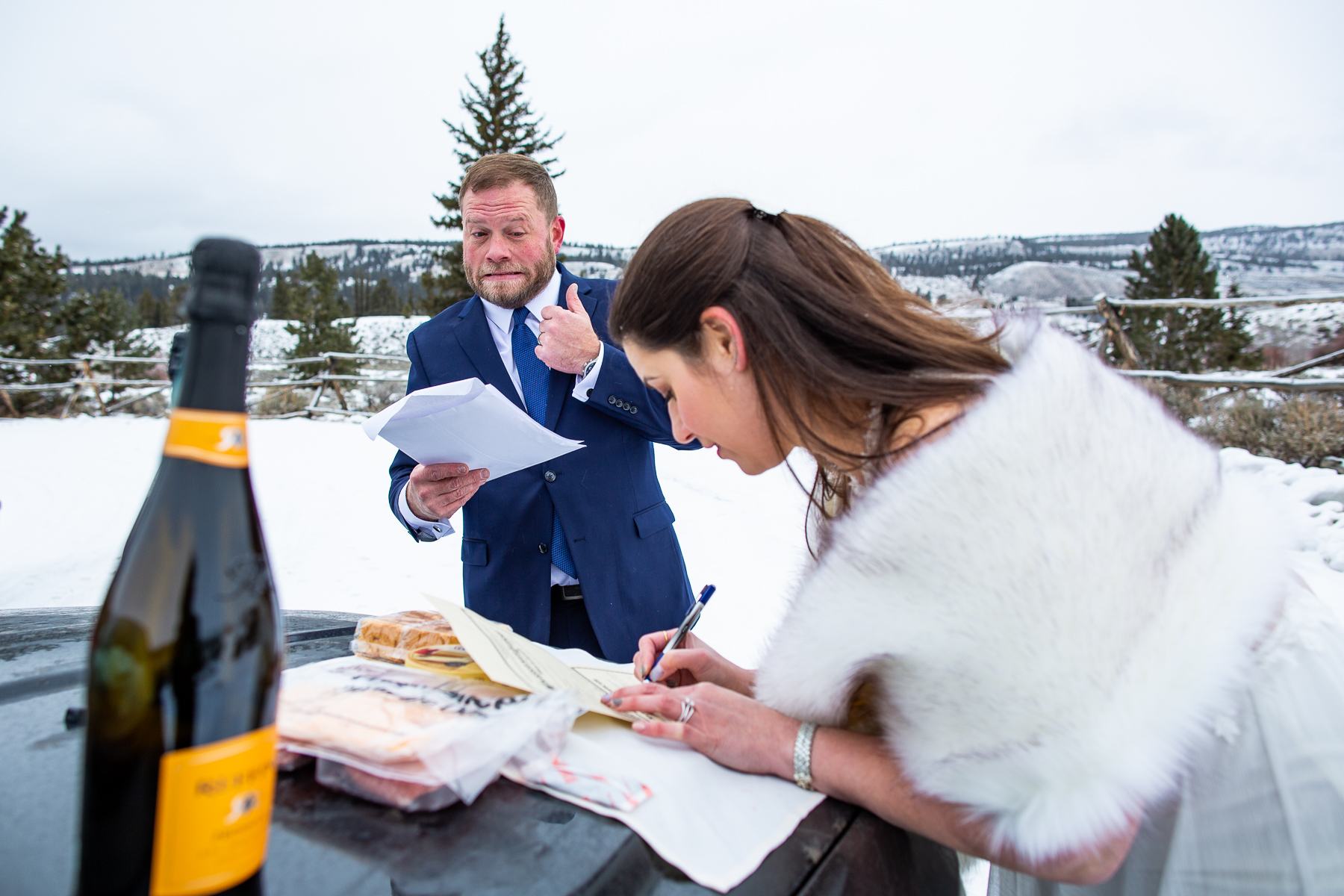 """Winter Wedding Pics from Twin Lakes, Colorado 