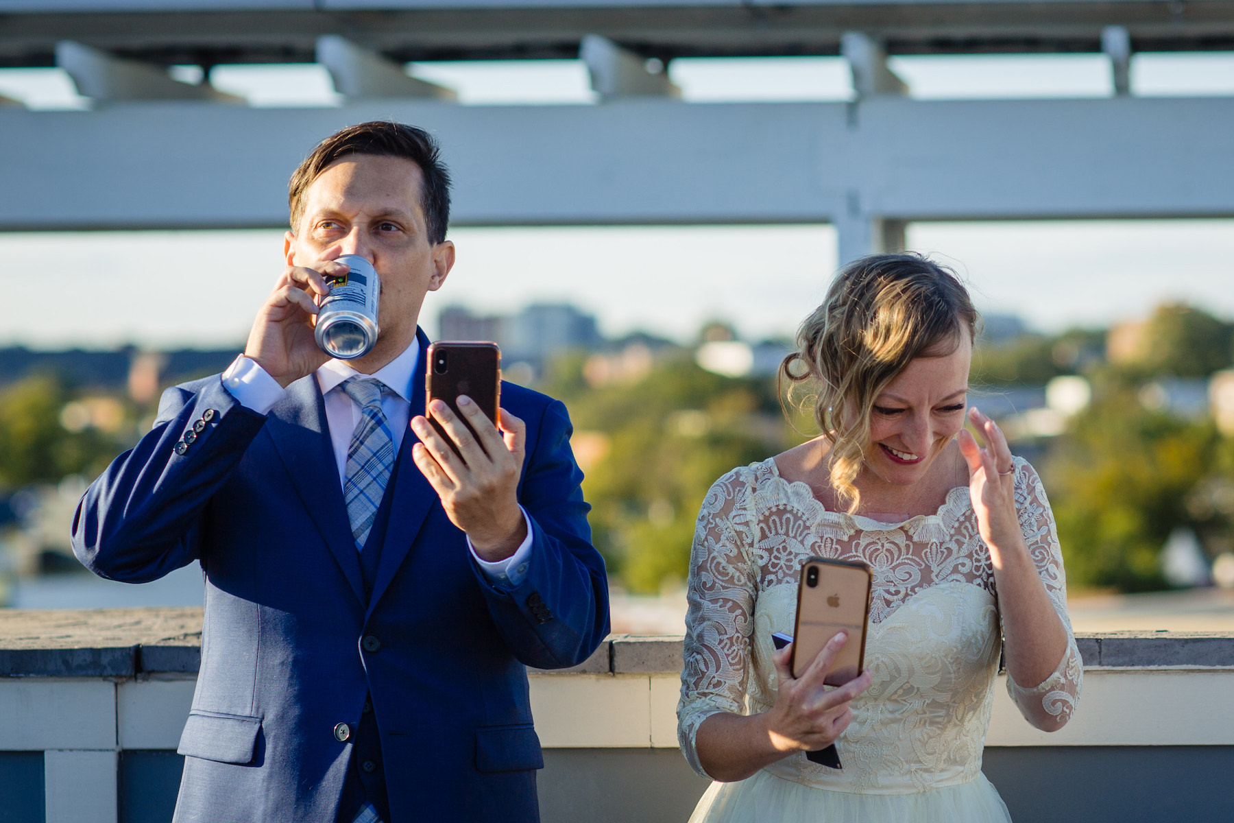 Capitol Hill Wedding Images by a DC Photographer | the bride and groom call their friends and relatives