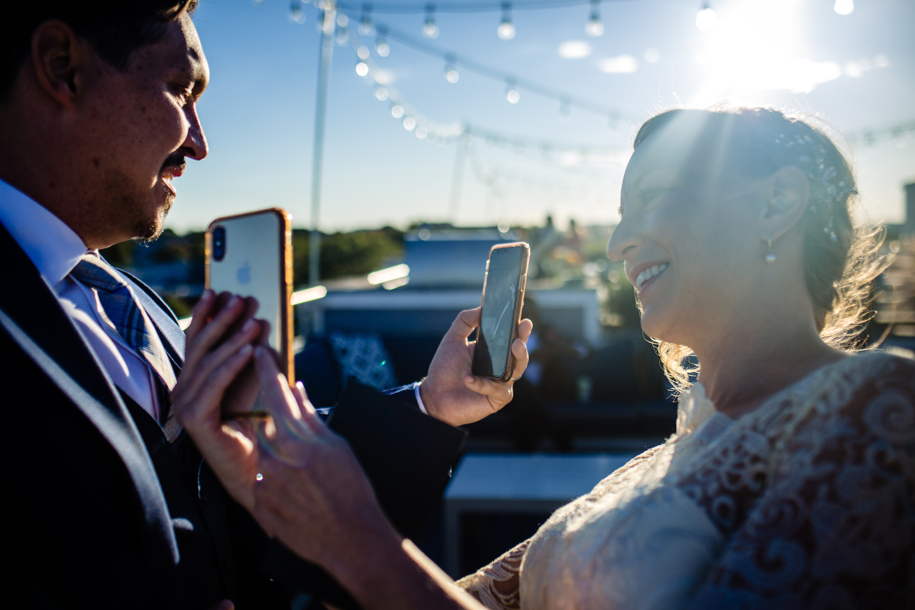 Capitol Hill Washington DC Wedding Image | The bride and groom enjoy video calls with their family members and friends