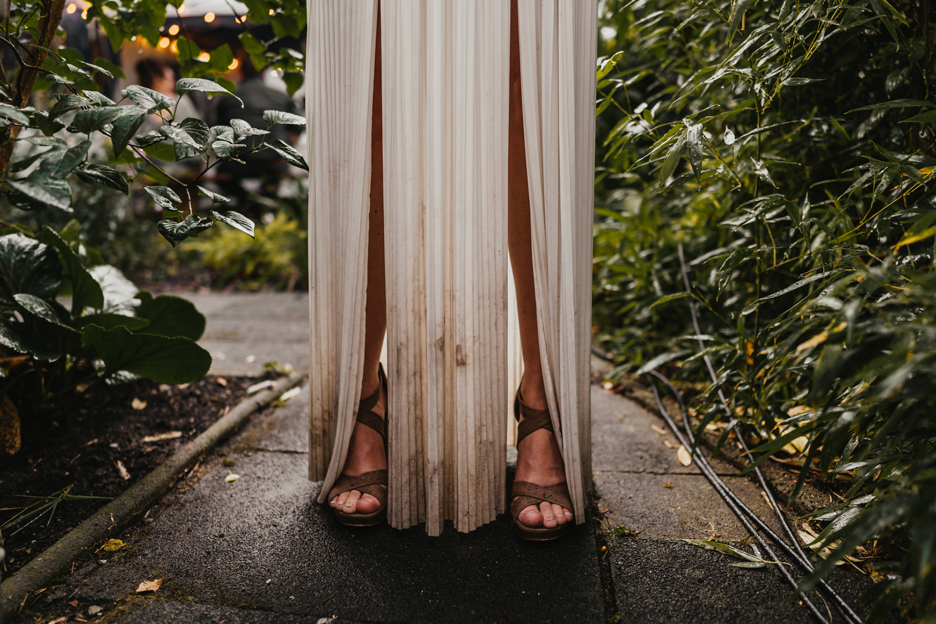 Garden Wedding Detail Image - Germany | A  bit of mud cannot tarnish the glow of a bride
